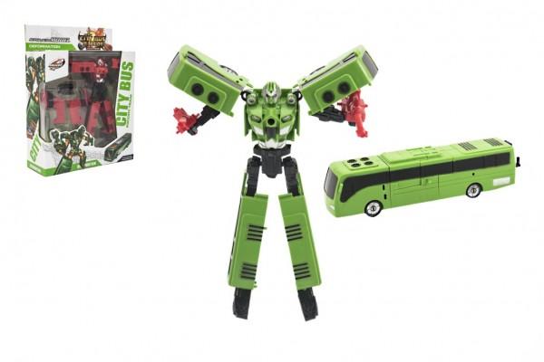 Transformer autobus/robot plast 17cm asst 2 barvy v krabici 21x27x8cm