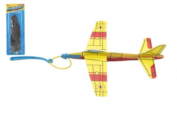 Letadlo vystřelovací pěna 18cm 4 barvy na kartě
