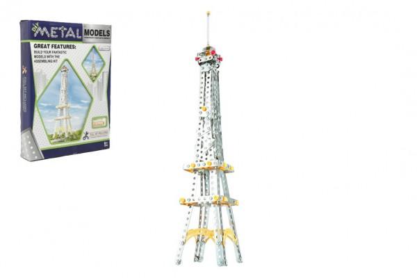 Stavebnice kov Eiffelova věž 407 dílků v krabici 26x36x6cm