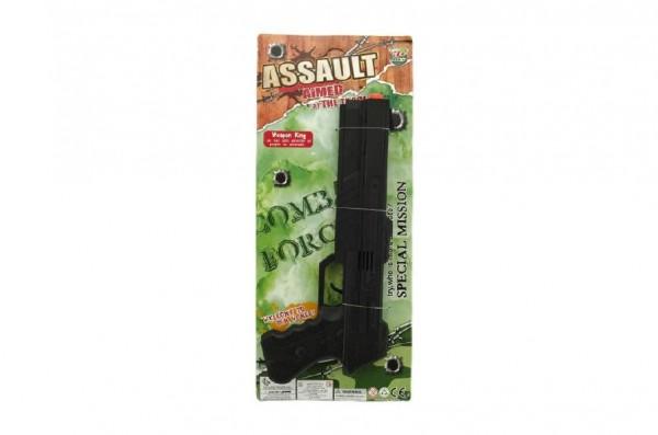Pistole jiskřící plast 32cm na kartě
