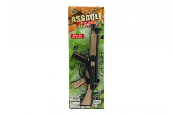 Pistole samopal jiskřící plast 33cm na kartě