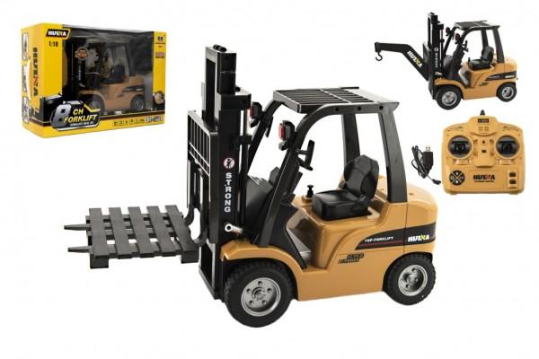 Vysokozdvižný vozík RC kov/plast 33cm na bat. se světlem a zvukem v krabici 52x37x23cm