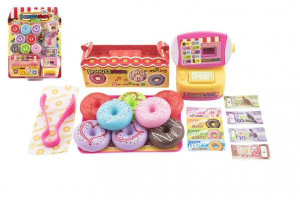 Prodejna donutů/koblih s doplňky plast na kartě