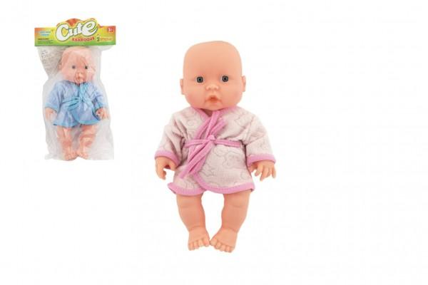 Miminko panenka měkké tělo v župánku plast 25cm 2 barvy v sáčku