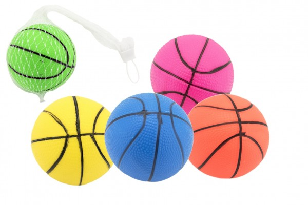 Míček basketbal guma 8,5cm 5 barev v síťce