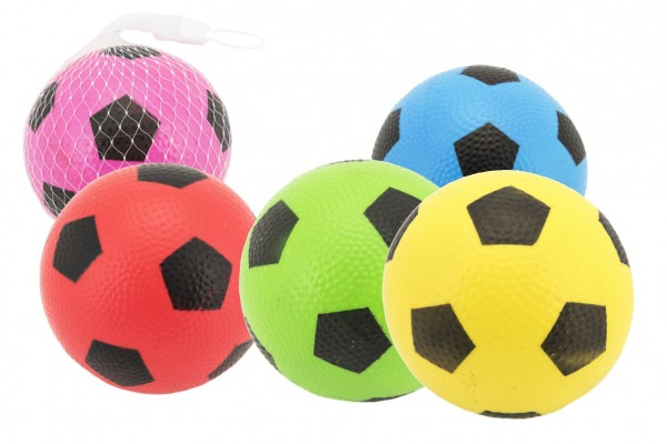 Míček fotbal guma 12cm 6 barev v síťce