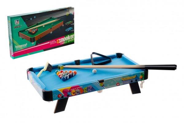 Kulečník/Billiard dětský 63,5x34,5x12,5cm v krabici 65x37x7cm