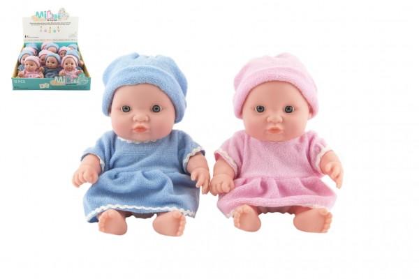 Miminko panenka pevné tělo plast 20cm 2 barvy 12ks v boxu