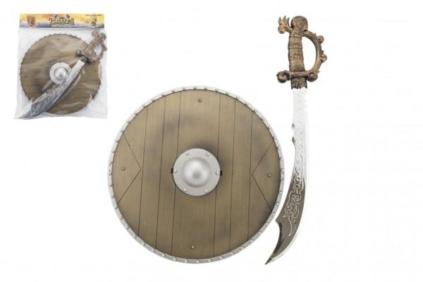Meč a štít plast 40cm v sáčku