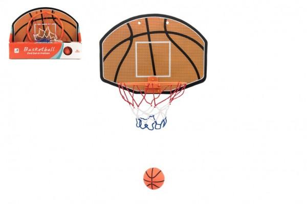 Koš na basketbal s doplňky 34x25 plast průměr 19cm v krabičce 34x25x7,5cm