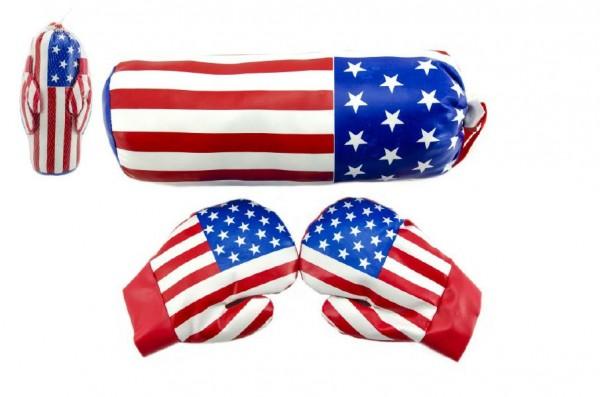 Boxovací pytel + rukavice 35cm v síťce