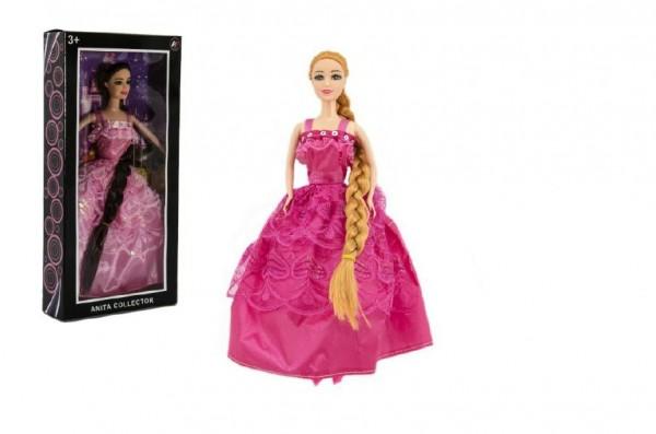 Panenka s dlouhým copem kloubová plast 29cm asst 2 druhy v krabici 16x32x5cm