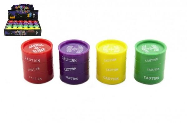 Sliz - hmota v barelu 4cm asst 4 barvy 24ks v boxu