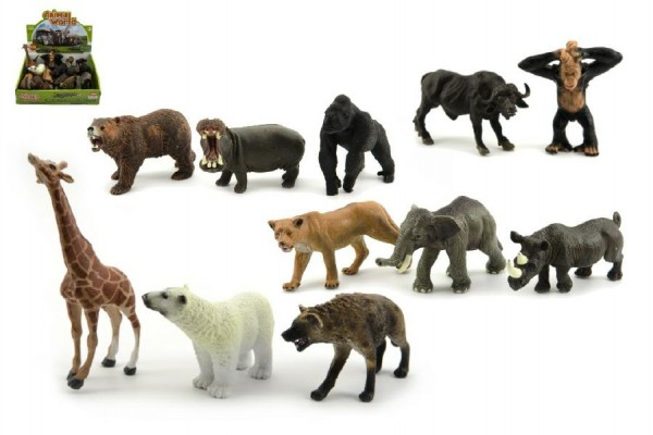 Zvířátka safari ZOO plast 10cm asst 12ks v boxu
