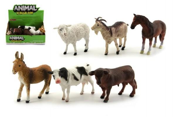 Zvířátka domácí farma plast 12cm asst 12ks v boxu
