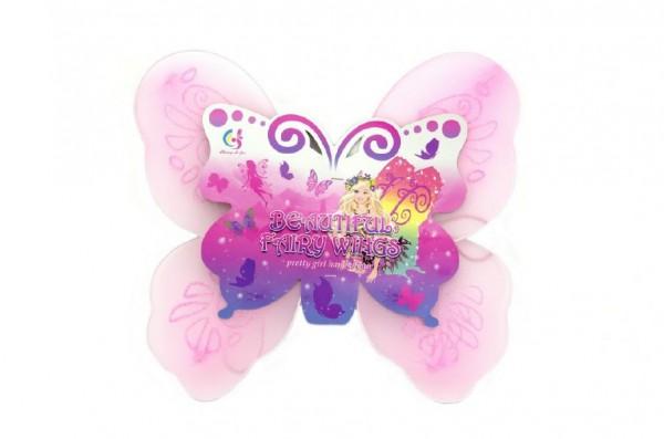Křídla motýlí 39x36cm nylon v sáčku karneval