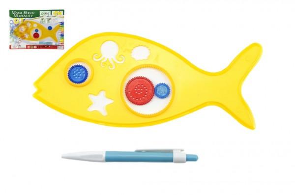 Inspiro zvířátko + pero plast 25cm na kartě