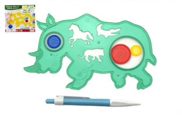 Inspiro zvířátko + pero plast 18cm asst 2 barvy na kartě