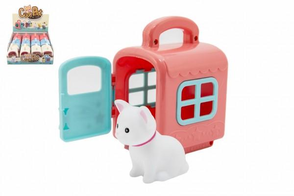 Zvířátko v přepravním boxu plast 3 barvy 12 ks v boxu