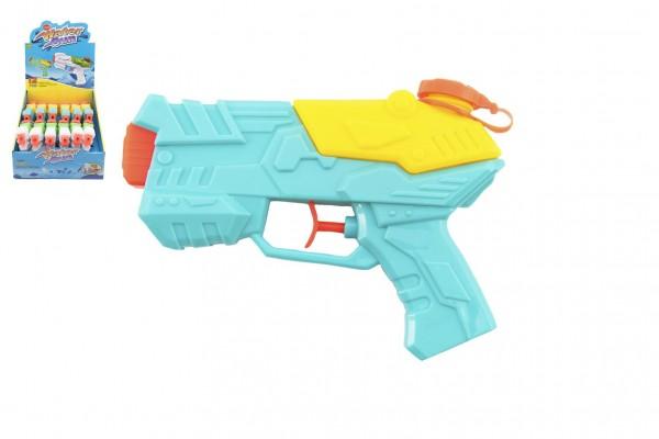 Vodní pistole stříkací plast 17cm 2 barvy 12ks v boxu