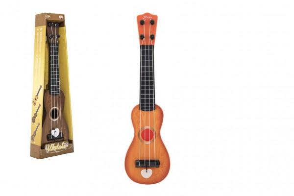 Ukulele/kytara plast 39cm s trsátkem 2 barvy v krabičce 12x40x5cm