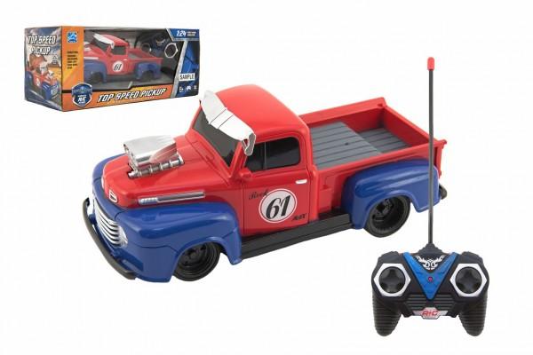 Auto RC pick up plast 19cm na baterie 27mHz v krabici 29x12x13cm