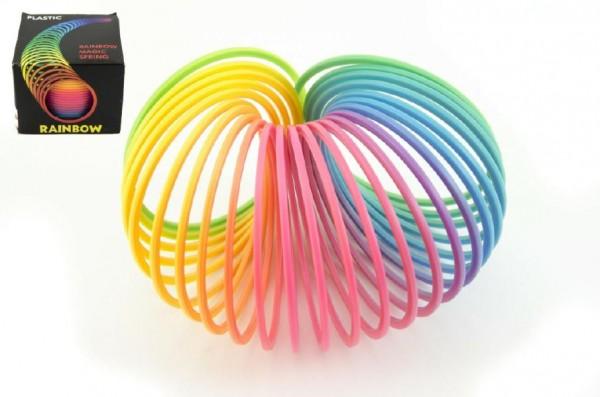 Spirála/pružina duhová plast 8,5x6,5cm v krabici