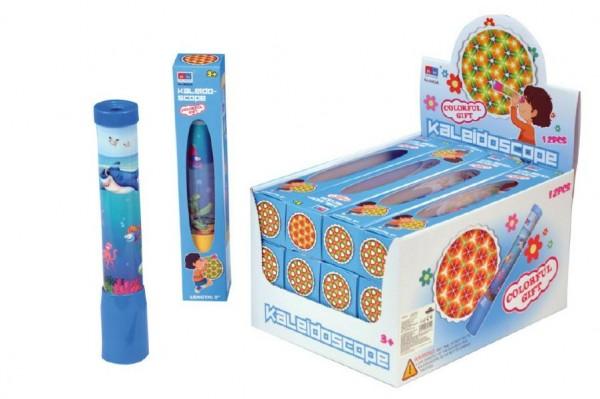 Kaleidoskop - Krasohled plast 23cm asst 4 barvy v krabičce 12ks v boxu