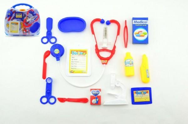 Doktorská sada 16ks plast v plastovém kufříku 30x27x7,5cm