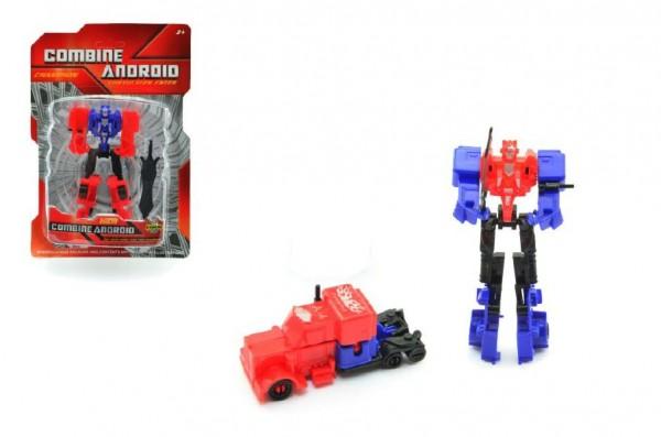 Transformer robot/auto plast 12cm asst 2 druhy na kartě