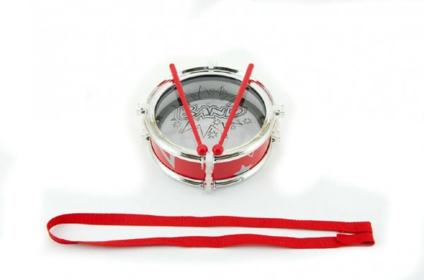 Bubínek plast 16x6cm s popruhem a paličkami v sáčku