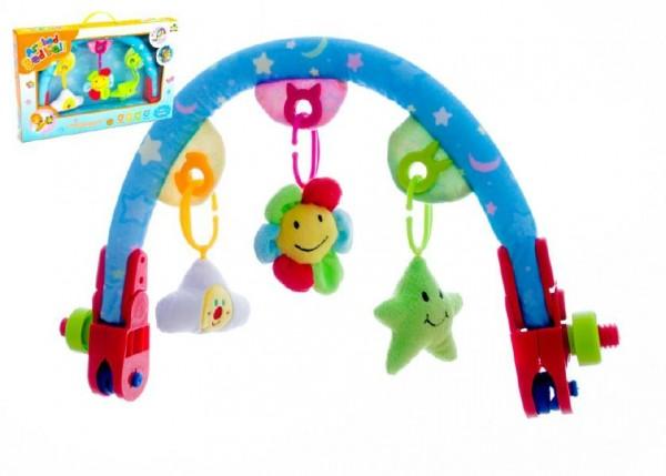 Hrazda pro děti  plyš/plast v krabici 50x32x6,5cm 6m+