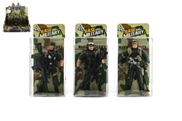 Voják figurka plast 10cm mix druhů v krabičce 24ks v boxu