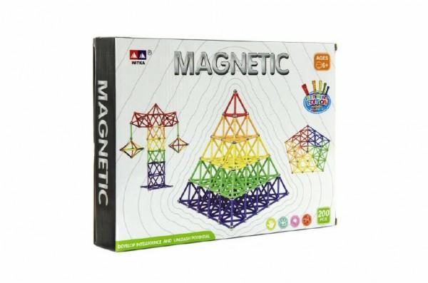 Magnetická stavebnice 200ks v krabici 30x23x6cm