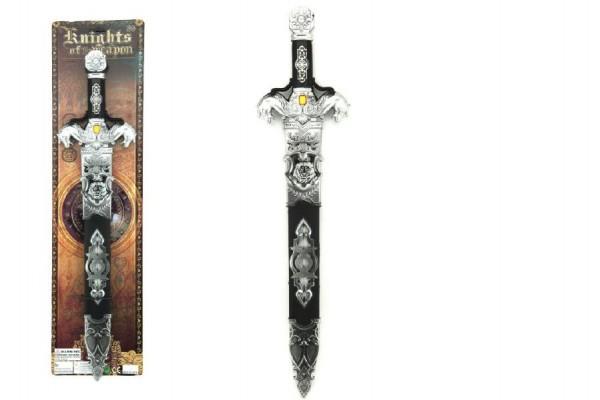 Meč v pouzdru 53cm plast na kartě