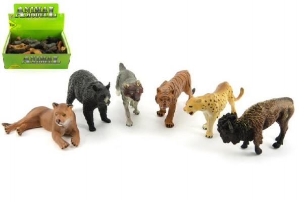 Zvířátka safari ZOO plast 10cm asst 24ks v boxu