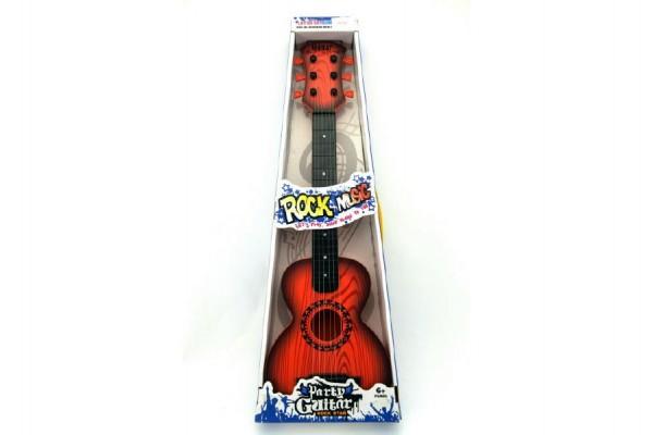 Kytara s trsátkem plast 65cm asst 2 barvy v krabici