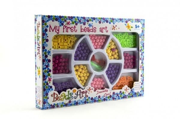 Korálky plast 0,5cm asst 2 barvy v krabici 26x18cm