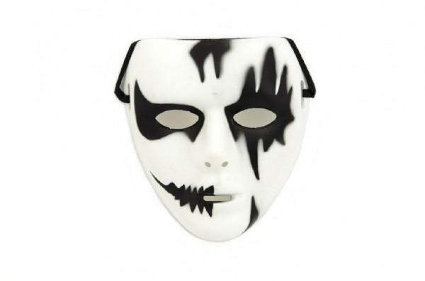 Maska plast 18cm v sáčku karneval