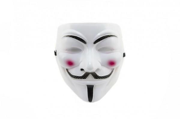 Maska plast 19cm v sáčku karneval