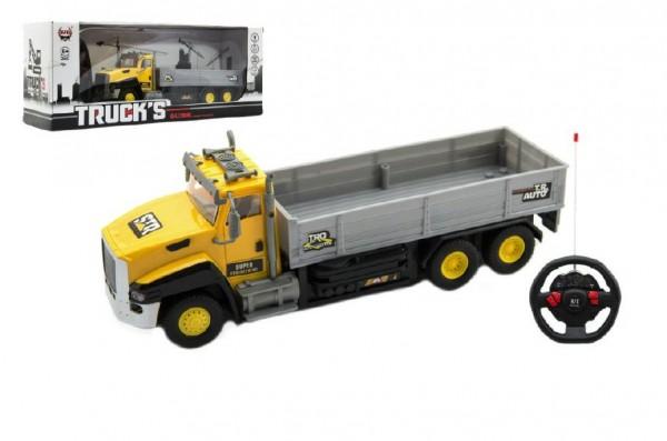 Auto nákladní RC plast 26cm na baterie se světlem v krabici 39x15x11cm