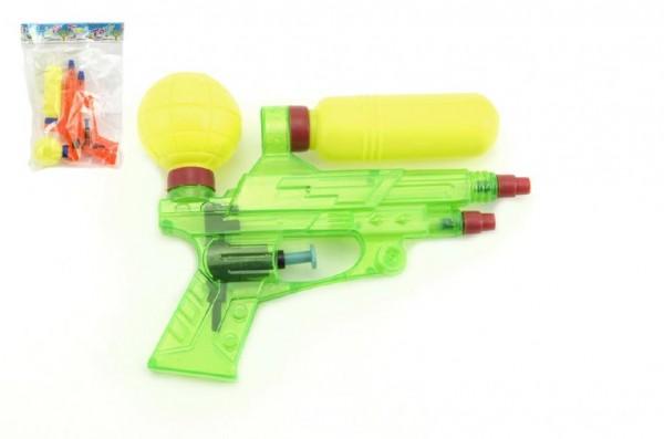 Vodní pistole plast 16cm asst 2 barvy v sáčku