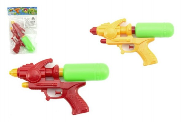 Vodní pistole plast 23cm asst 2 barvy v sáčku