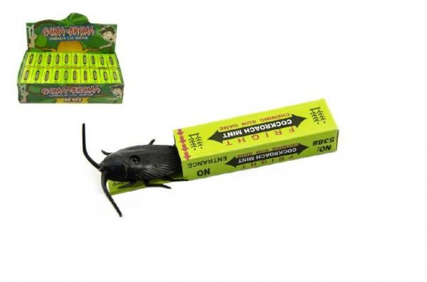 Žertovná žvýkačka s broukem papír/plast 7cm 60ks v boxu