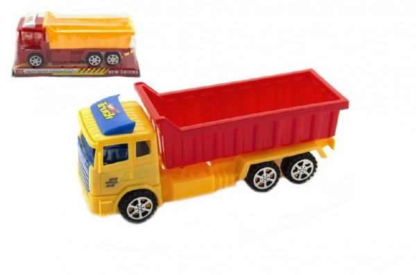 Auto nákladní plast 26cm asst 2 barvy na setrvačník v blistru