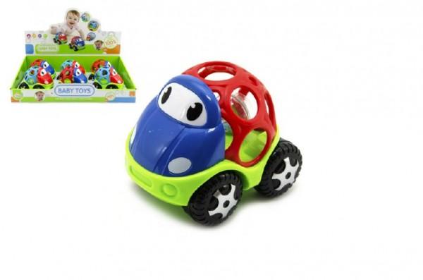 Auto chrastítko pro nejmenší plast 11cm asst 6ks v boxu
