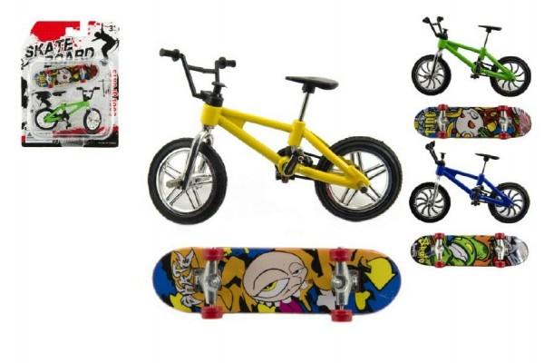 Kolo + skateboard prstový šroubovací plast 10cm asst mix druhů na kartě