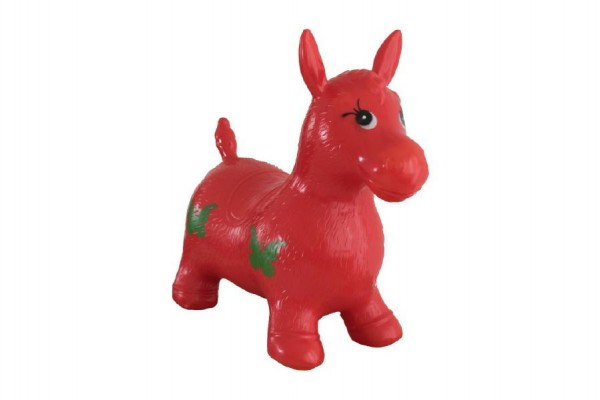 Hopsadlo kůň skákací gumový červený 49x43x28cm v sáčku