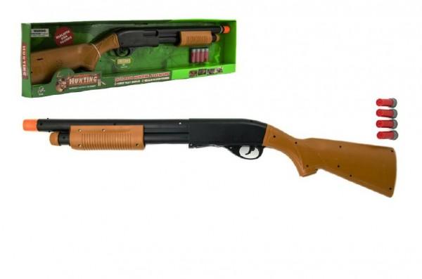 Puška/Brokovnice lovecká plast 76cm na baterie se zvukem v krabici