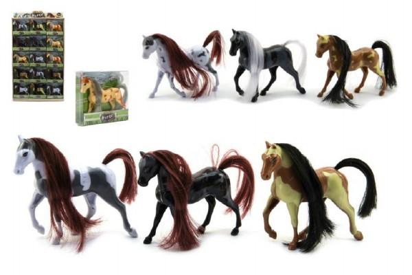 Kůň plast 10cm asst mix barev v krabičce 30ks v boxu